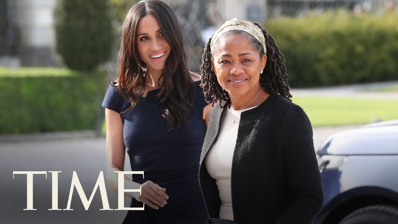 Royal Wedding Time.Meghan Markle And Her Mother Arrived At The Cliveden House Hotel For The Royal Wedding Time