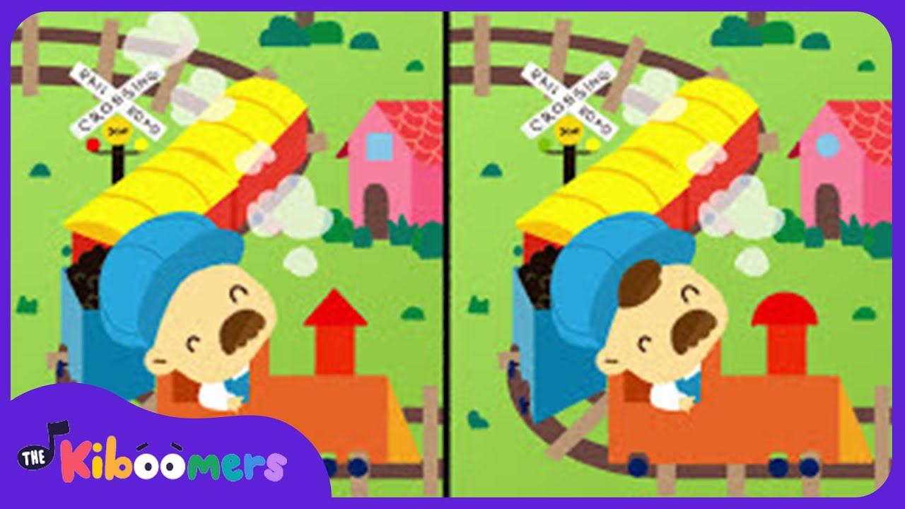 I've Been Working On The Railroad | Nursery Rhyme | Spot the Differences | The Kiboomers