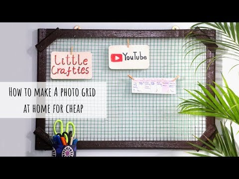 How To Make Photo Grid at Home for Cheap | DIY Memo Board | DIY Vision Board |  Home Office Setup