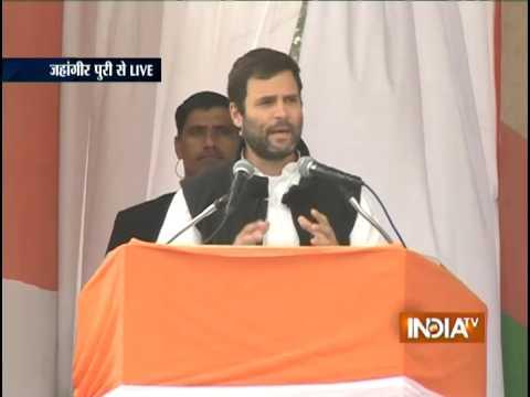 LIVE: Rahul Gandhi Addresses Election Rally at Jahangirpuri, Delhi - India TV