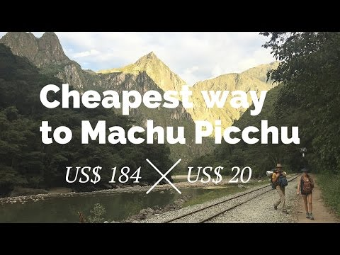 Cheapest way to Machu Picchu. A journey from Cusco to Aguas Calientes (Legendas em português)