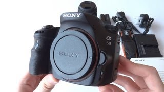 sony slt a58k unboxing