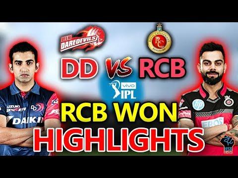 IPL 2018 LIVE MATCH:RCB Vs DD Live,#RCBVSDDLive Cricket Score:RCB WON By 6 WKTS