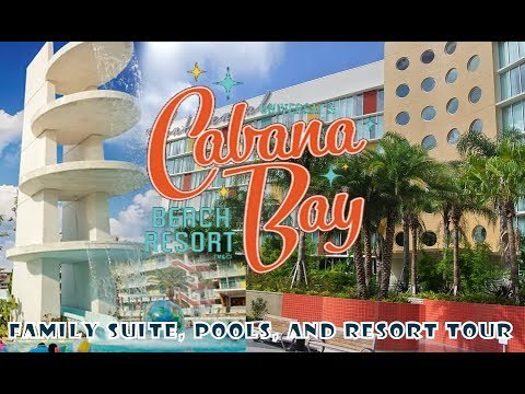 cabana-bay-resort-family-suite,-lobby,-resort-and-pools-tour