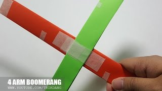 How to make an EASY Paper Boomerang that COME BACK to you | 4 Arm Boomerang