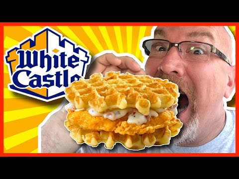 ★ White Castle ★ Chicken and Waffle Sliders Review in Merrillville, Indiana