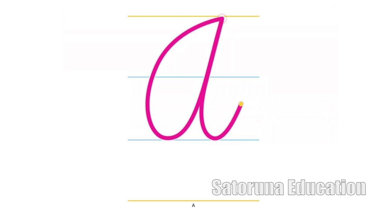 Cómo las letras mayúsculas en cursiva - App educativa Cursiva ...