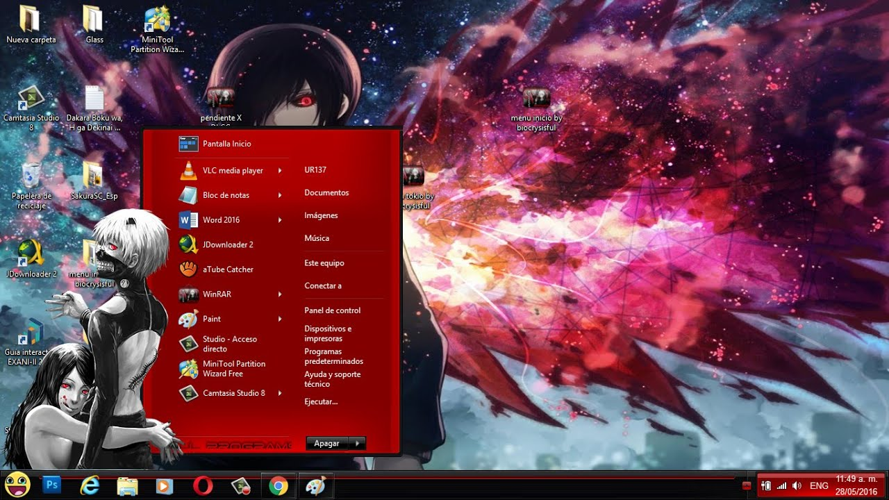 descargar tema para windows 8 anime images