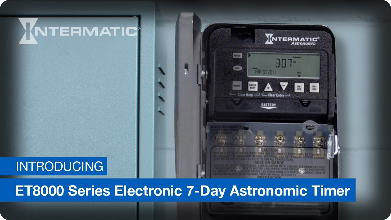 intermatic et8000 series electronic 7 day astronomic timer [ 1280 x 720 Pixel ]