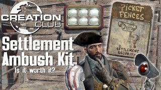 Fallout 4 Creation Club: Settlement Ambush Kit Review/Gameplay (Is it worth $9?)