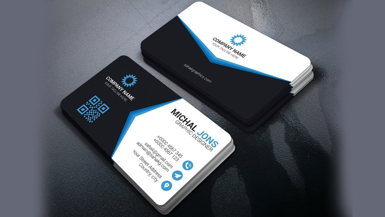 Photoshop Tutorial | Business Card Design | Corporate