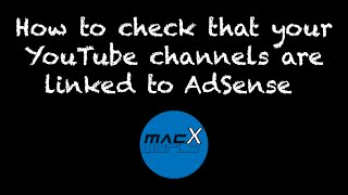 how to check that your youtube channel is linked to your adsense account