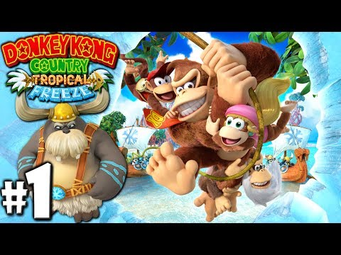 Download Youtube: Donkey Kong Country Tropical Freeze 2P Gameplay Walkthrough Let's Play Co-Op with Danielle (Wii U)