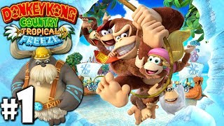 Donkey Kong Country Tropical Freeze 2P Gameplay Walkthrough Let's Play Co-Op with Danielle (Wii U)