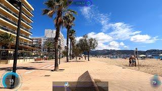 30 Minute Roses Sunshine Beach Cycling Fat Burning Workout Spain Garmin Video