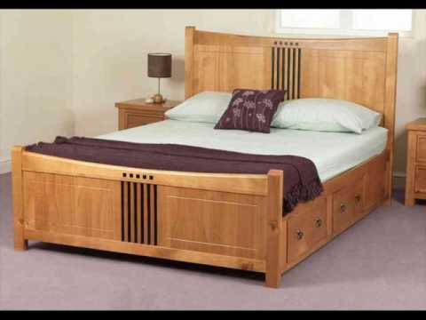Wooden Bed Frame with Storage Drawers UK - YouTube