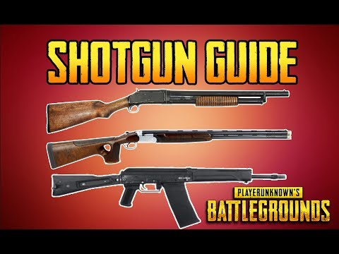 BATTLEGROUNDS SHOTGUN GUIDE! PUBG GUN GUIDE! TrainingGrounds Episode 2!