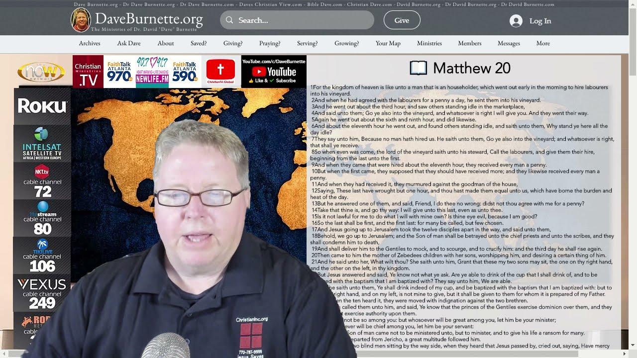 Matthew 20 ✒️ An Open Invitation