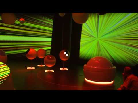 """Universe of Particles"" Video at the CERN Globe of Science and Innovation (Partial) (HD)"