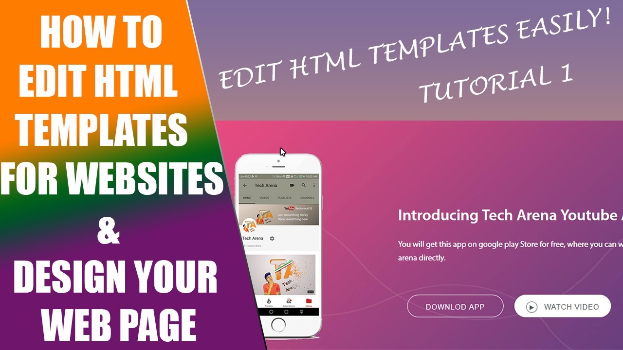 How to edit HTML Templates for Websites -Tutorial 1 - YouTube