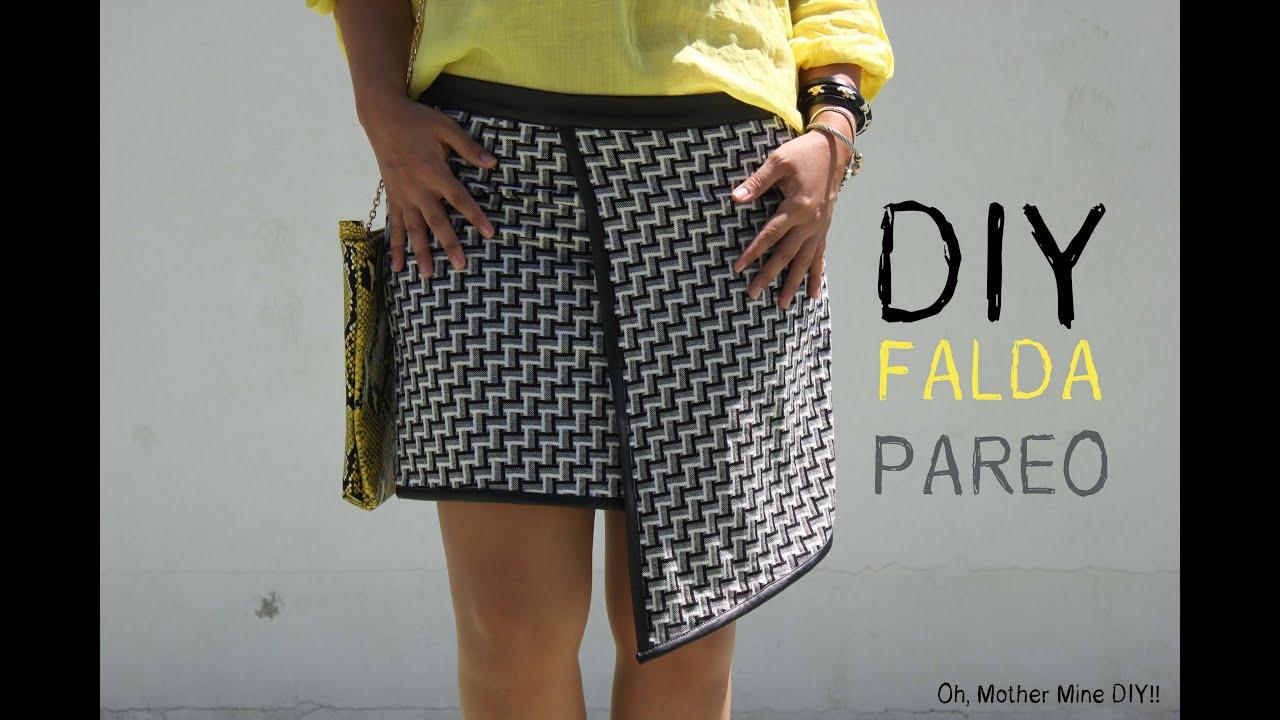 85c01d58fd DIY Costura de falda pareo blanca y negra (patron gratis) - YouTube