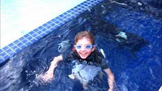 Olivia underwater with Siemens Aquaris waterproof hearing aids.wmv