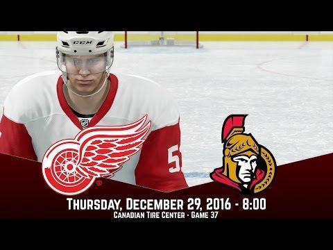 GAME ON HIS STICK! (Detroit Red Wings @ Ottawa Senators) - NHL 17 Franchise Mode