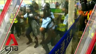 Protesters clash with police at Hong Kong airport
