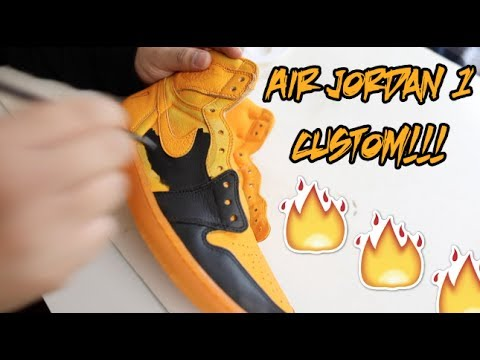 AIR JORDAN 'ORANGE PEEL' GATORADE 1 CUSTOM + TUTORIAL!!!