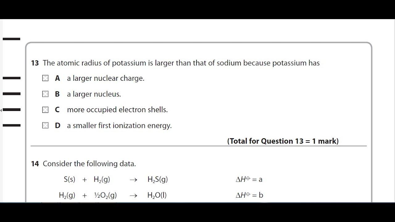 Edexcel as chemistry unit 1 question paper may 2015 question 13 edexcel as chemistry unit 1 question paper may 2015 question 13 solution urtaz Images