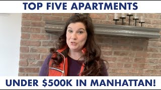 ONE MINUTE TOUR: 5 Apartments FOR SALE UNDER $500K in Manhattan New York City NYC!