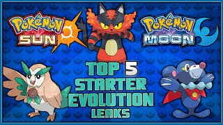 Top 5 Leaked Starter Pokémon Evolutions for Pokémon Sun and Pokémon Moon