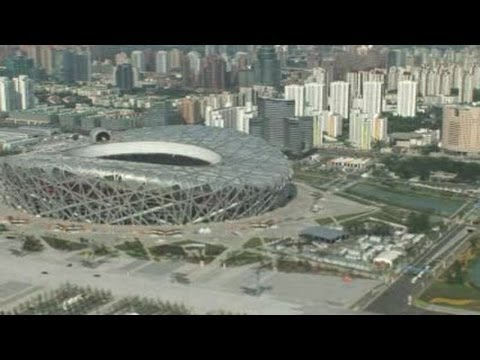 Stunning views of Bird's nest stadium