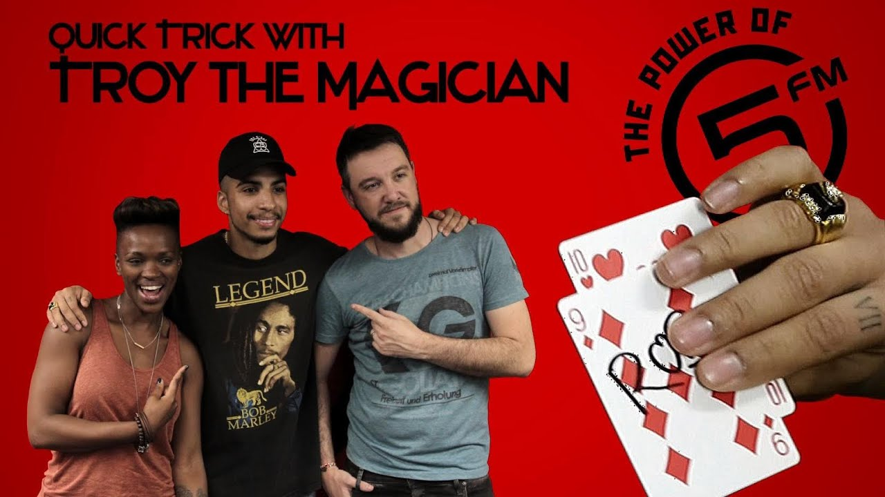 Troy the magician 5fm tv quick trick youtube for Troy magician