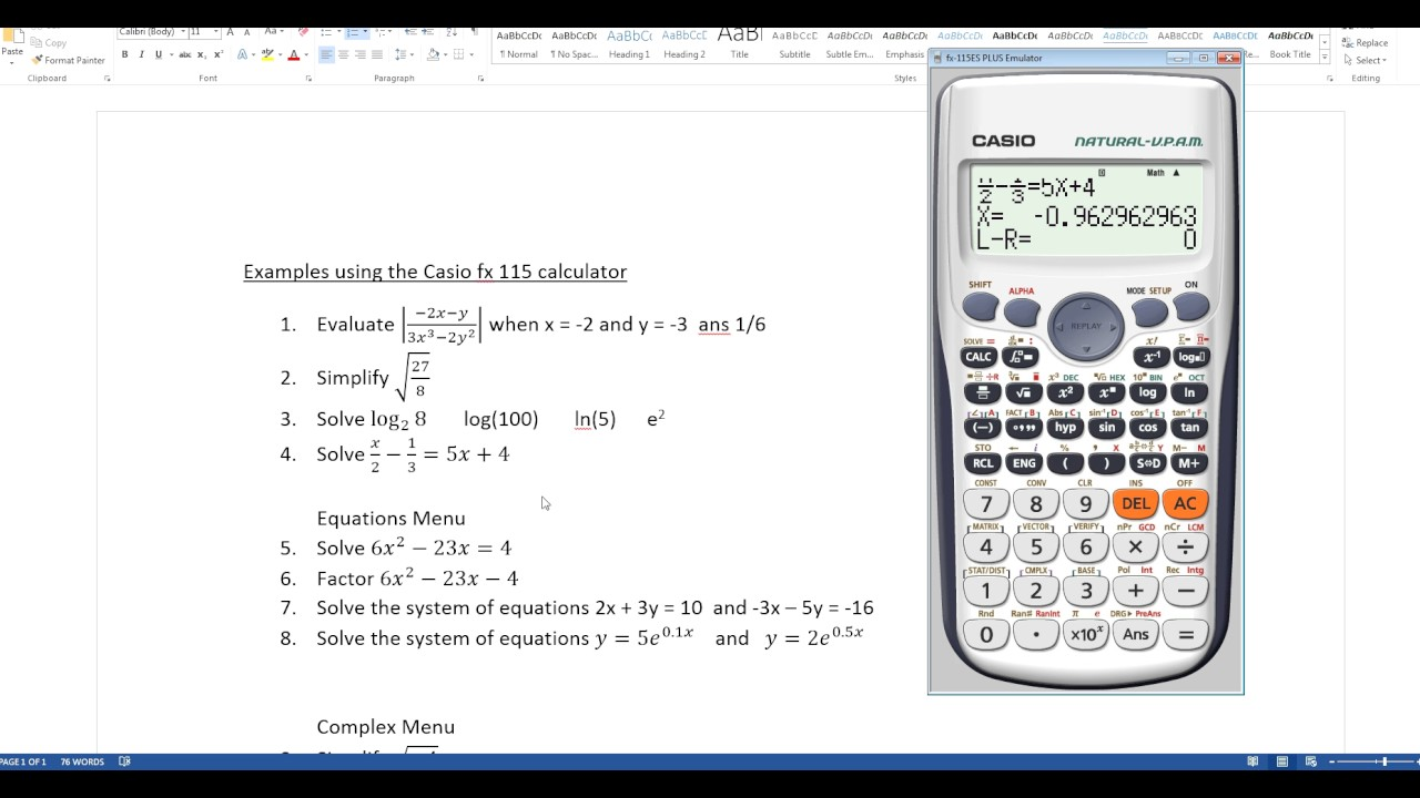 Solved: how to convert on casio fx-115es calculator fixya.