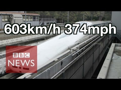 Japan: World's fastest train 603km/h - BBC News