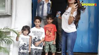 SPOTTED: Malaika Arora and Amrita Arora with Kids Post Lunch at Olive   SpotboyE