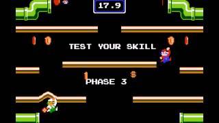 Mario Bros - Mario Bros (NES / Nintendo) - NES Remix Netplay Tournament: Davideo7 (P1) vs NoxHardigan (P2) - User video