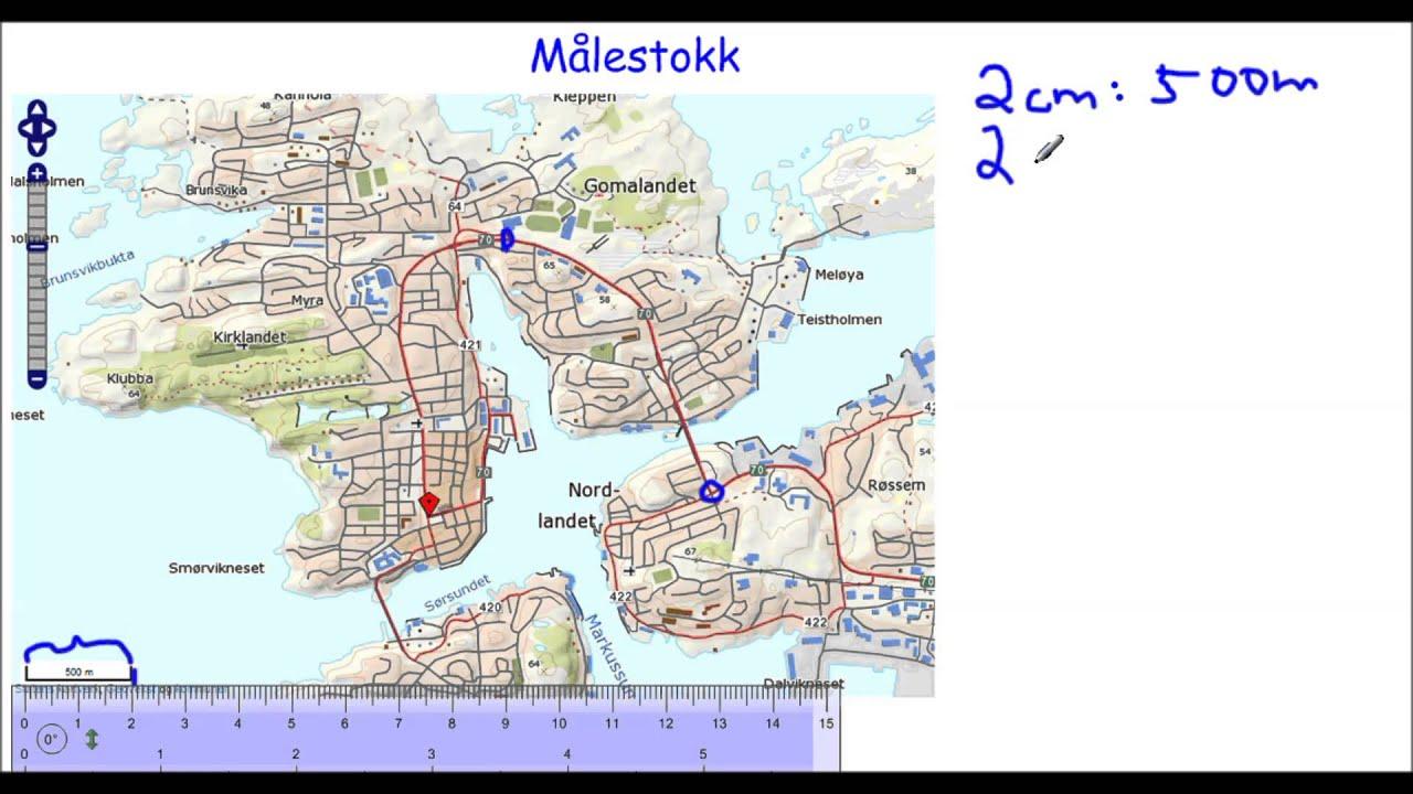 kart målestokk Målestokk i kart   YouTube kart målestokk