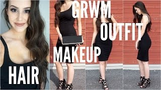 Get Ready With Me: Date Night | Hair, Makeup & Outfit | GRWM