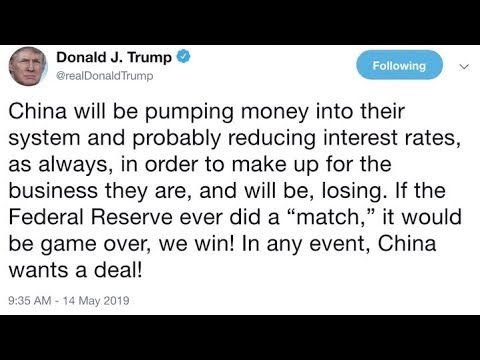 President Trump pushes Fed to lower interest rates amid trade war with China