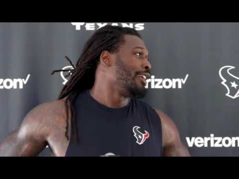 """Funny Jadeveon clowney Talking about hes """"Dance Moves"""" 😂 Texans Training Camp"""