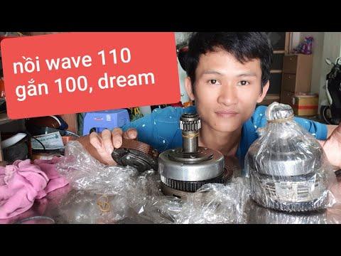 Bộ Nồi Wave 110, Gắn đươc Xe Wave 100 Và Cả Dream Thái. Tháo Xe Bao  Hú
