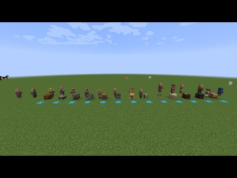 Minecraft 1.15.2:How to get all villager professions
