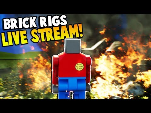 BRICK RIGS LIVE STREAM! - HAVING FUN AND SHOUT OUTS! - Brick Rigs Gameplay & Awesome Crashes!