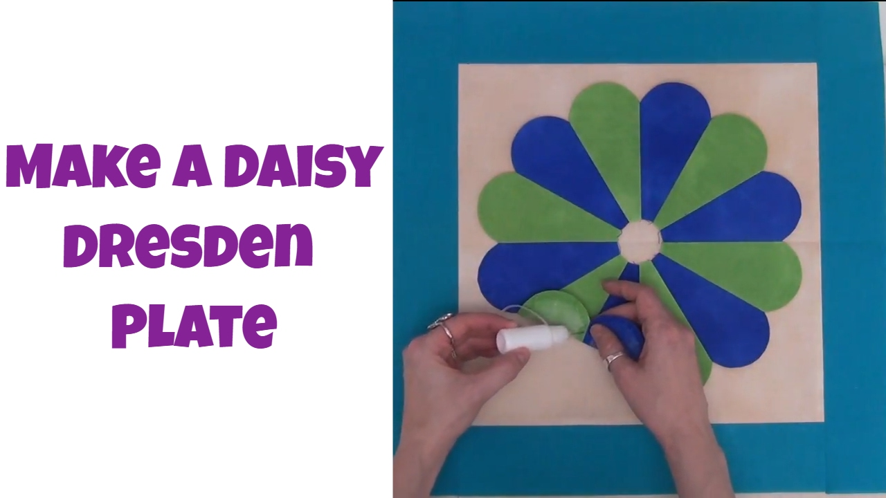 How To Piece And Applique A Daisy Dresden Plate Quilt Block Youtube