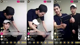 (180318) Chanyeol Instagram Live With Suho and Sehun