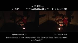 Canon XF705 & Sony HXR-NX5R Low light Test 2 - ** USER REVIEW**