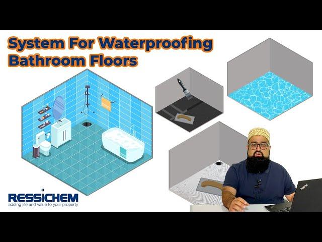 Waterproofing Washroom Floors | Ressichem #waterproofing #construction #leakproof