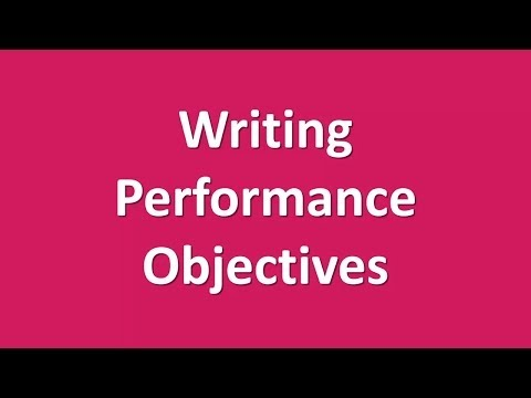 Instructional Design - Unit 8 - Performance Objectives